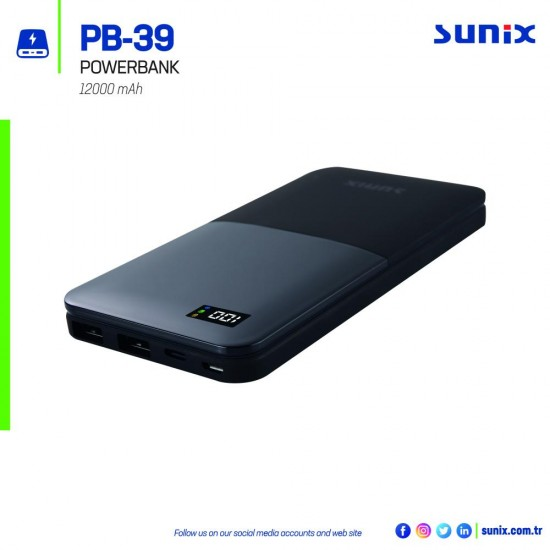 Sunix PB 39 Powerbank 12.000 mAh